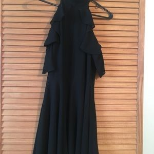 Black dress with ruffle